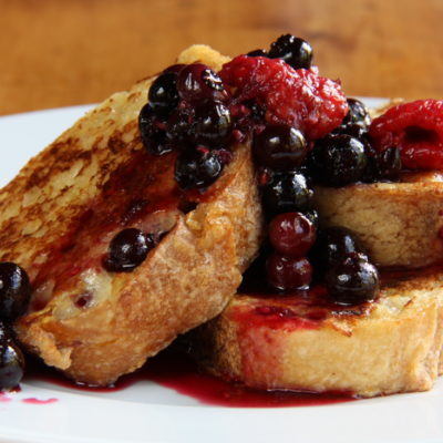 breakfast for dinner - french toast - french toast for dinner - break the rules - griddle