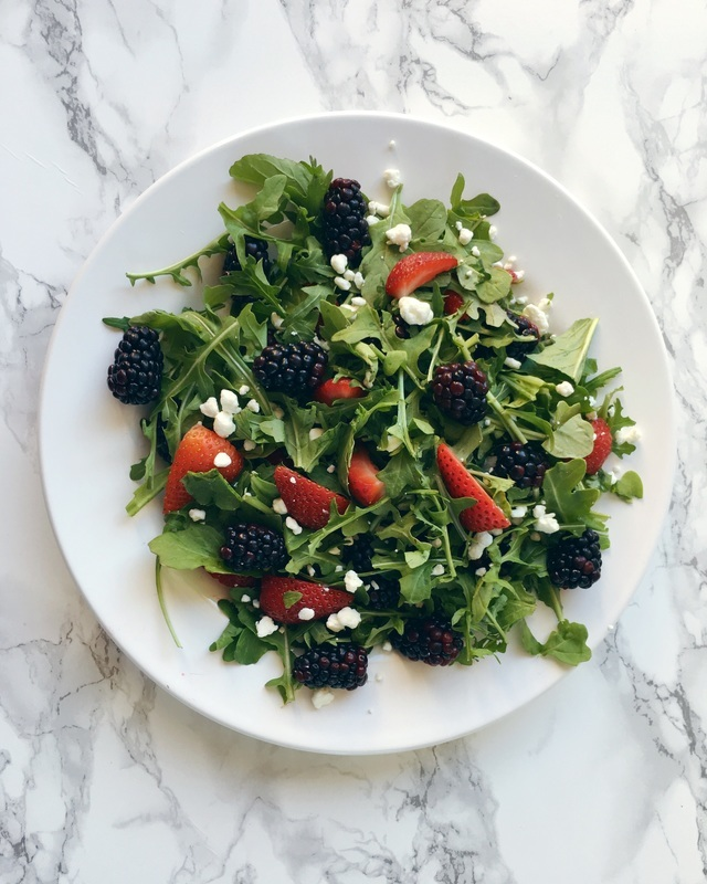 berry salad - strawberry salad - blackberry salad - berries - summer salad