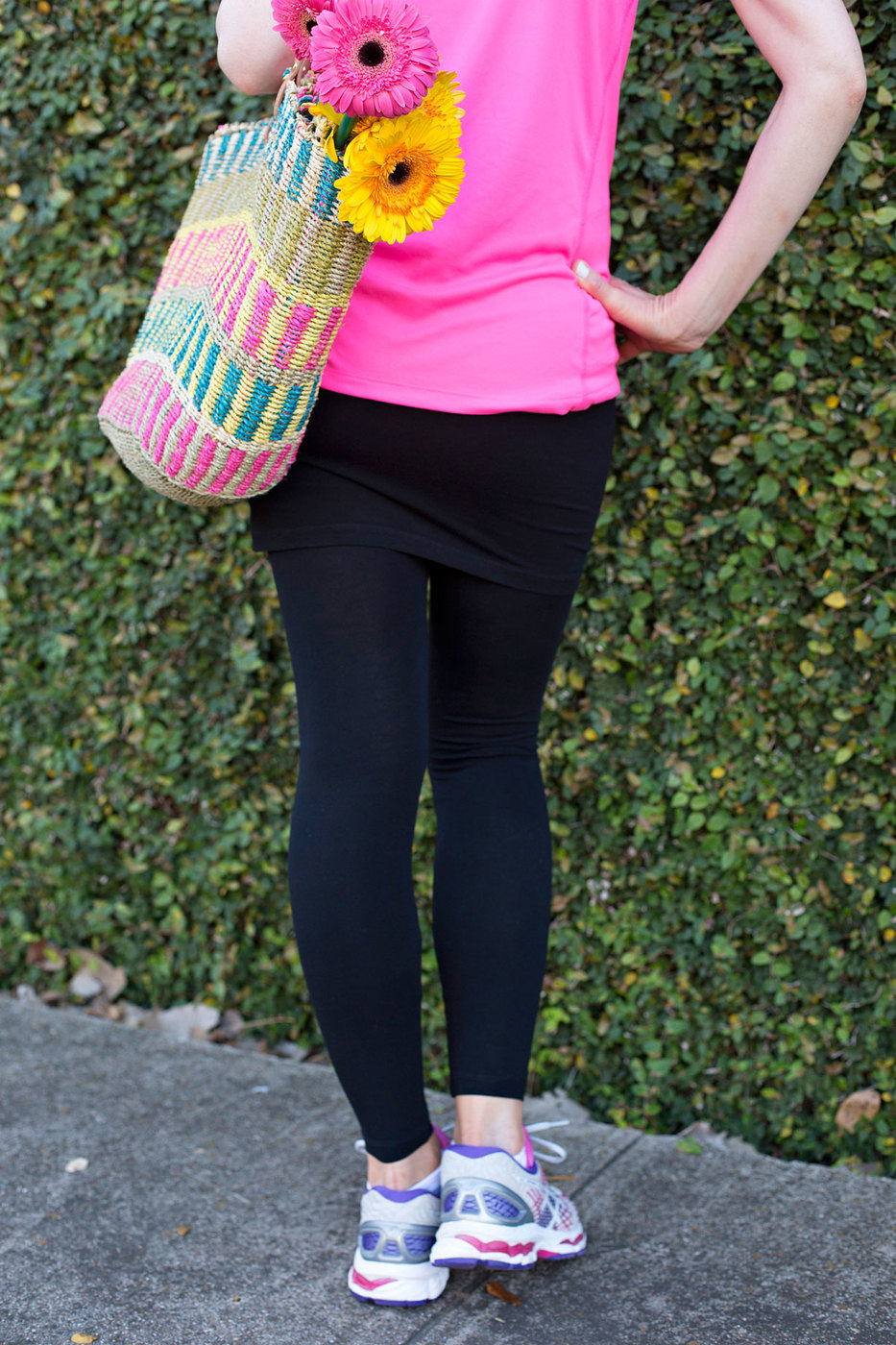 skirted leggings, leggings with skirts, skirted capris, capris with skirts, modest workout apparel, athleisure, athleisure wear, empty nester