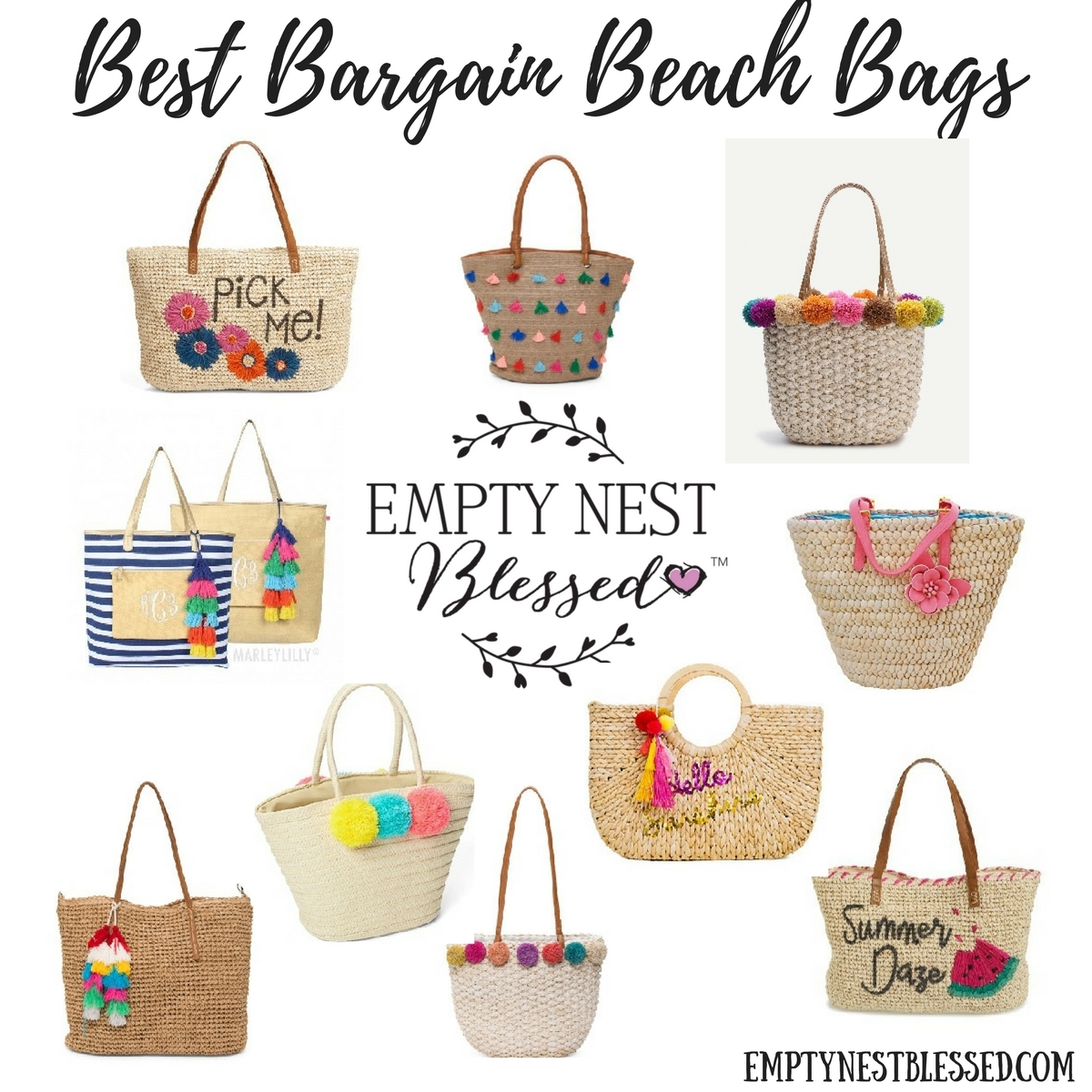 Best Bargain Beach Bags for Summer | How Cute (and Cheap!) are These?