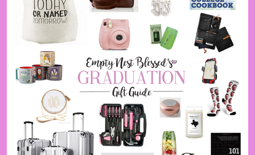 collage of graduation gift ideas