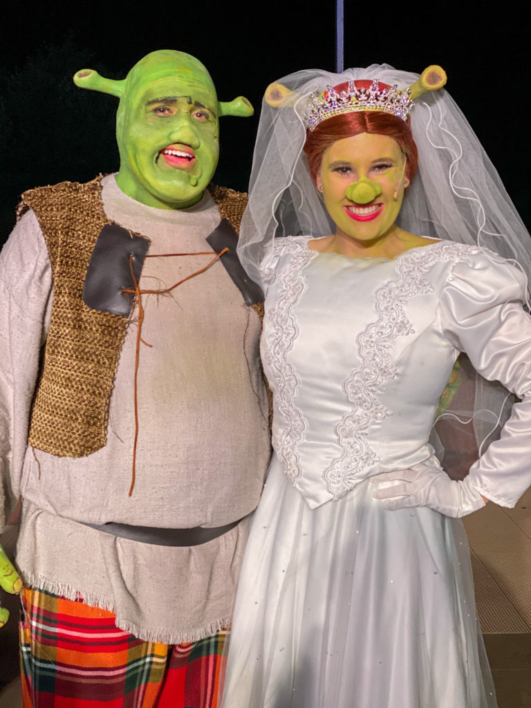 shrek and fiona at starlight mountain theatre in garden valley idaho