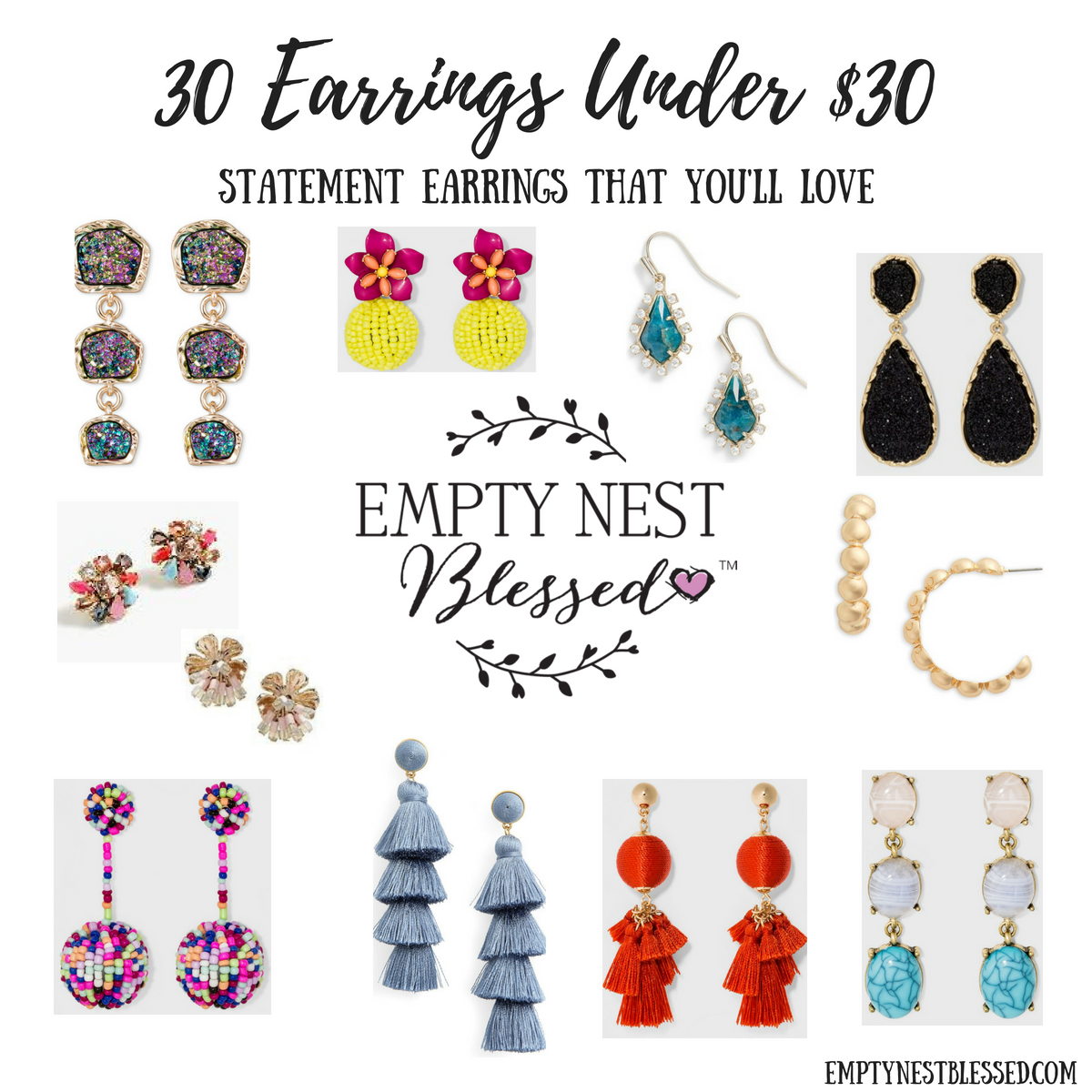 30 Statement Earrings Under $30 (No Necklace Needed!)