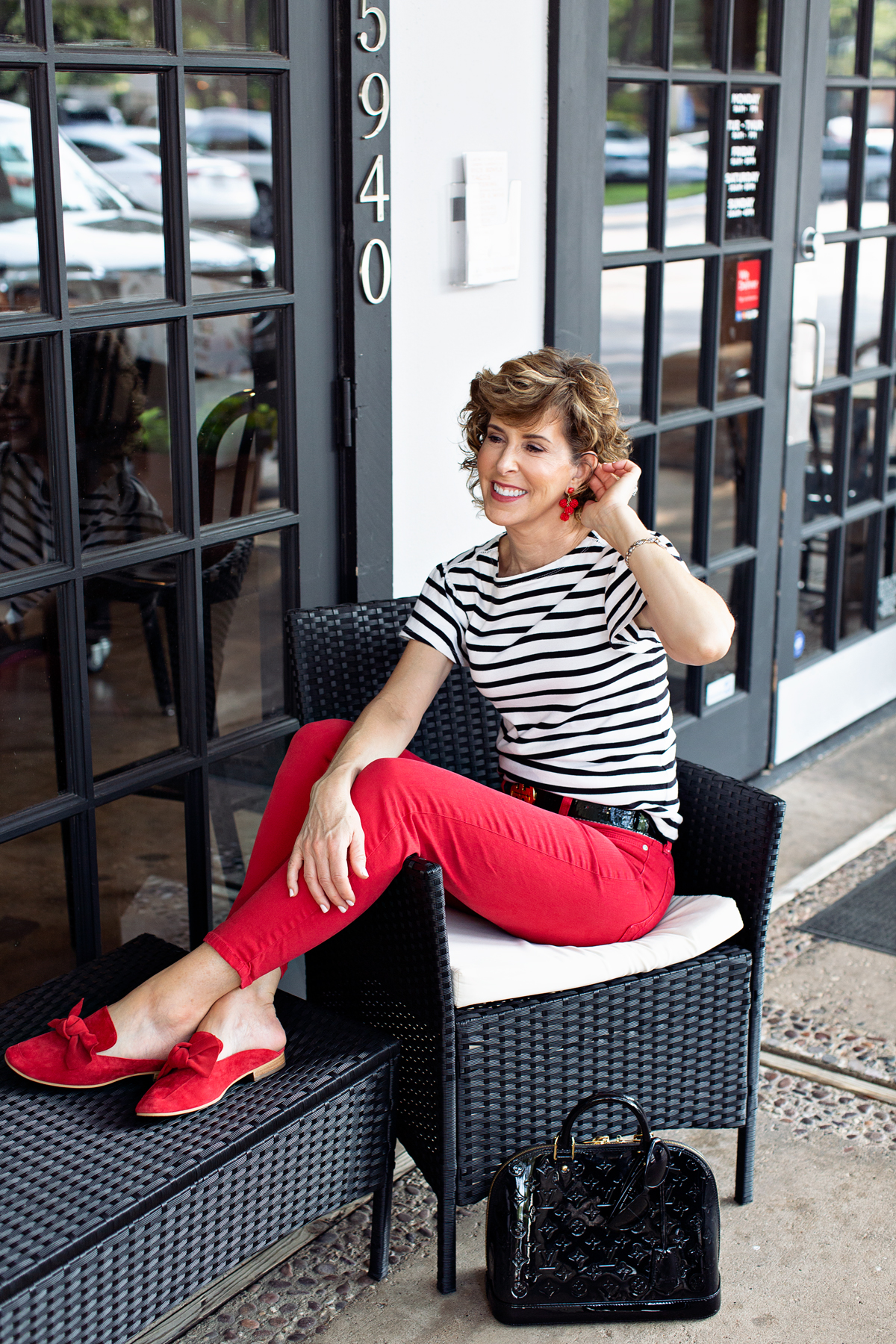 Answering reader questions, reader questions, kate spade tee, kate spade striped tee, kate spade ruffle sleeve tee