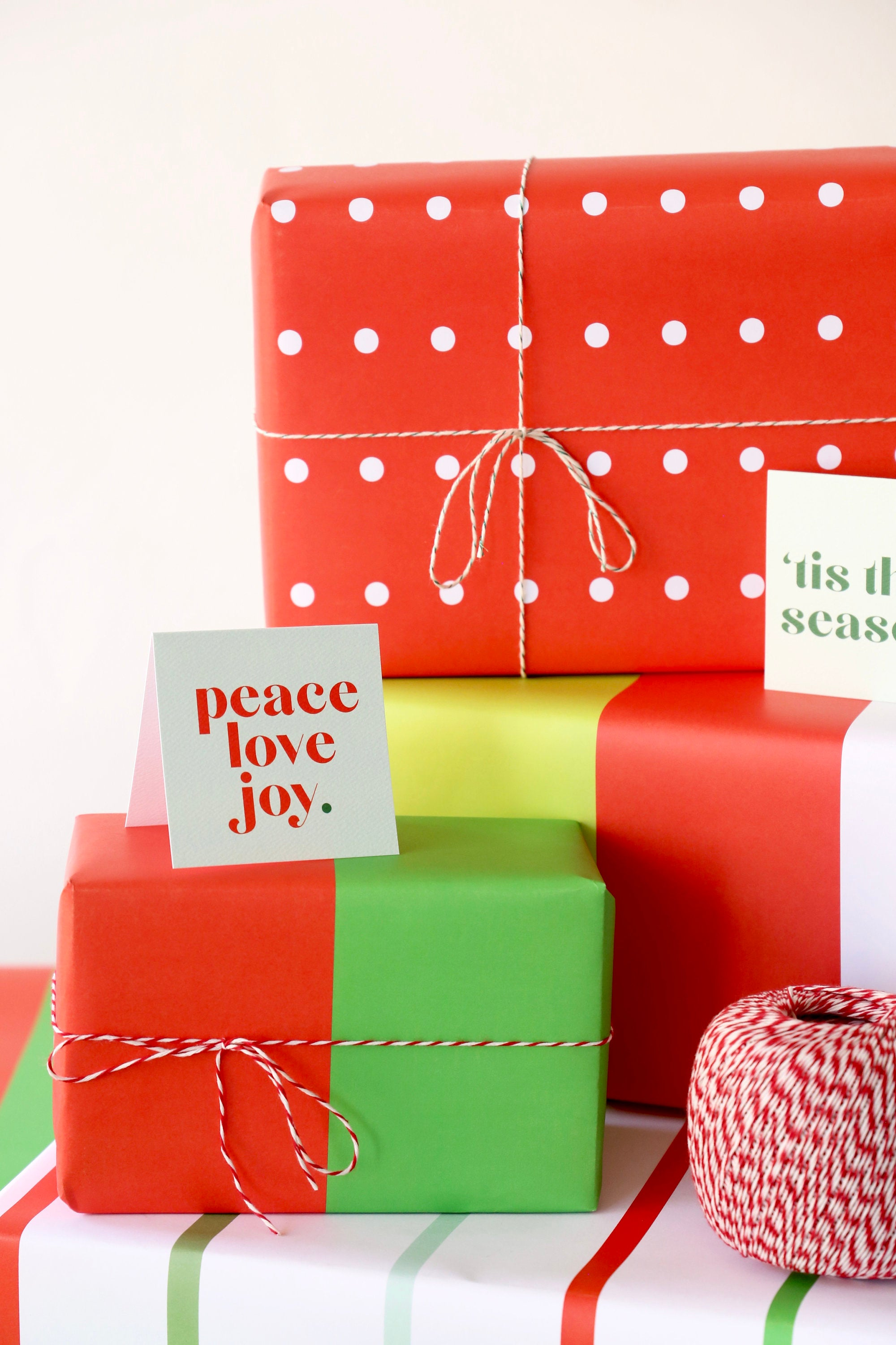 assorted gift wrap and cards