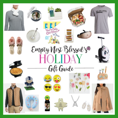 collage of holiday gift guide for empty nesters