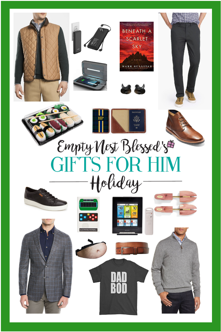 collage of style updates for men and gift ideas for him
