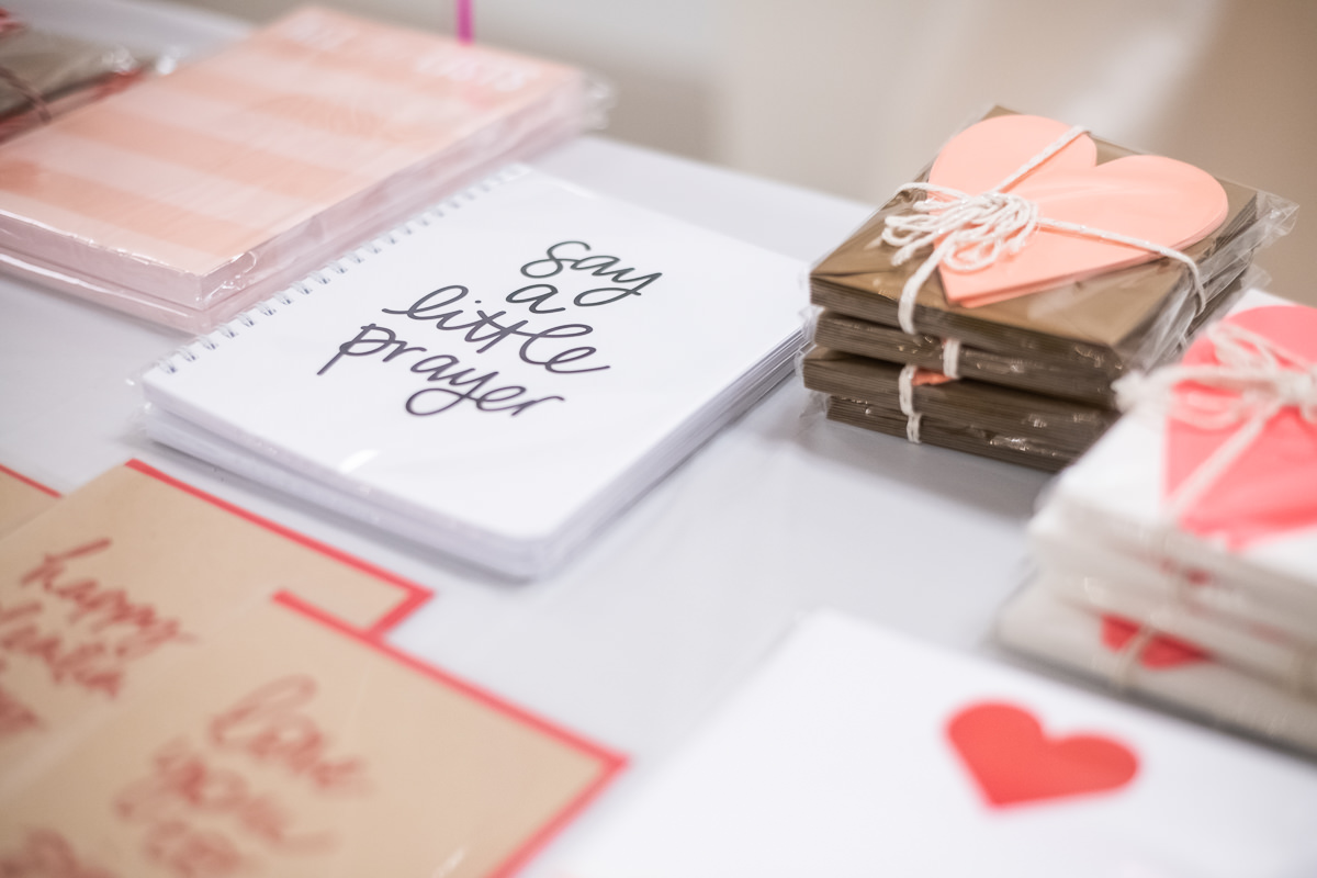 greeting cards sitting on a table