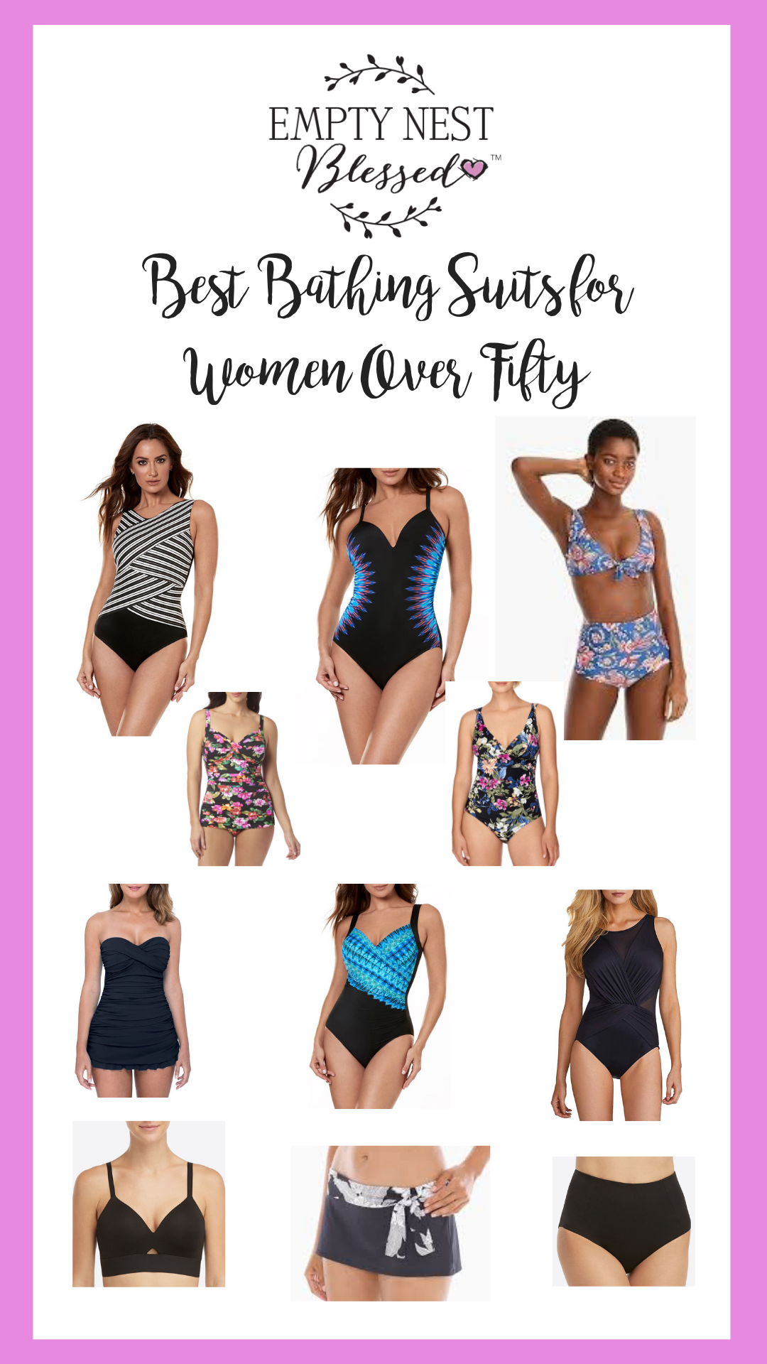 collage of womens bathing suits
