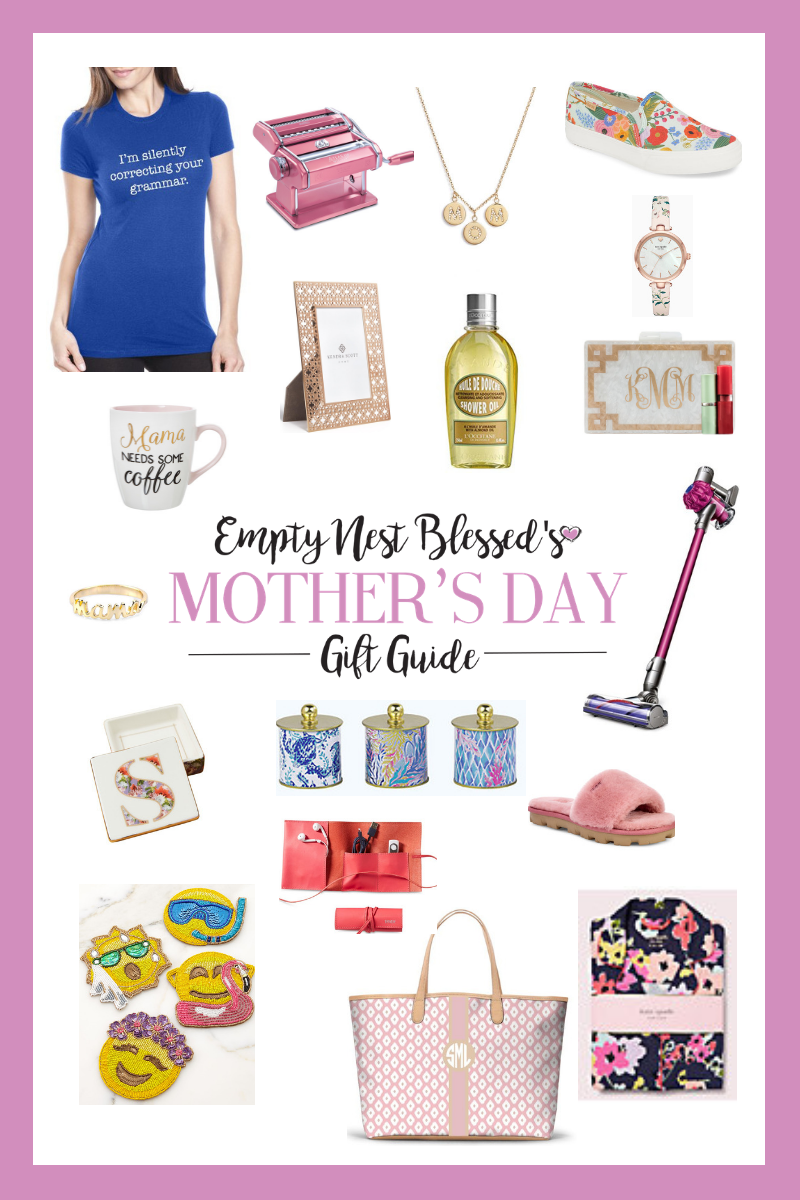 collage of mothers day gift ideas
