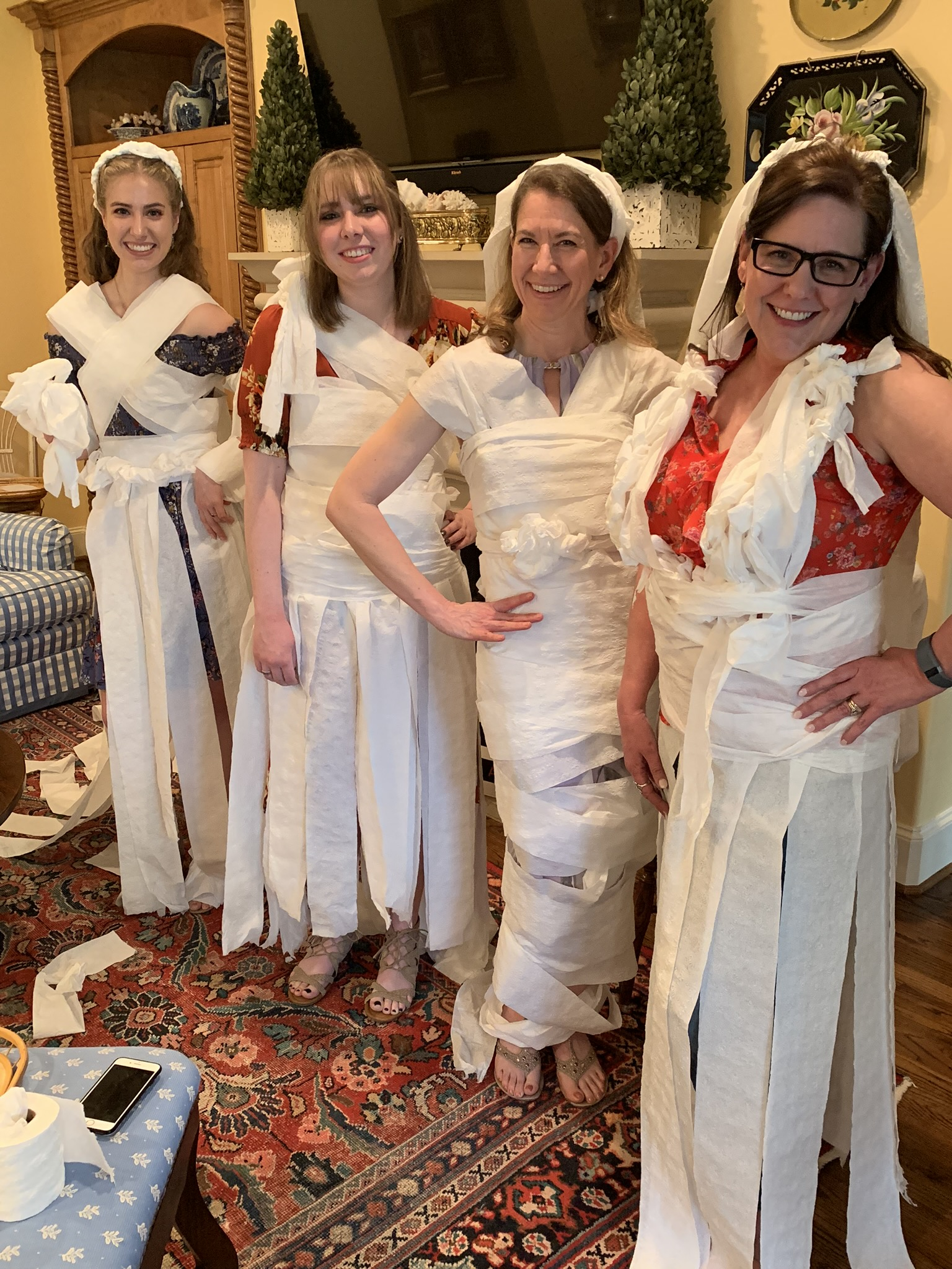 bridal shower toilet paper wedding dress game