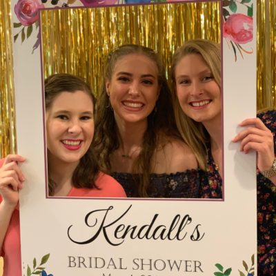 bridal shower photo frame