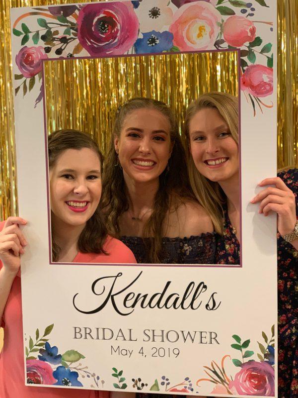 bridal shower photo frame