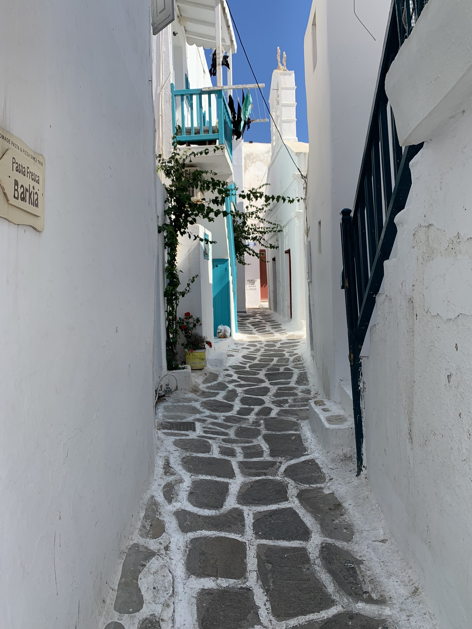 a side street in mykonos greece