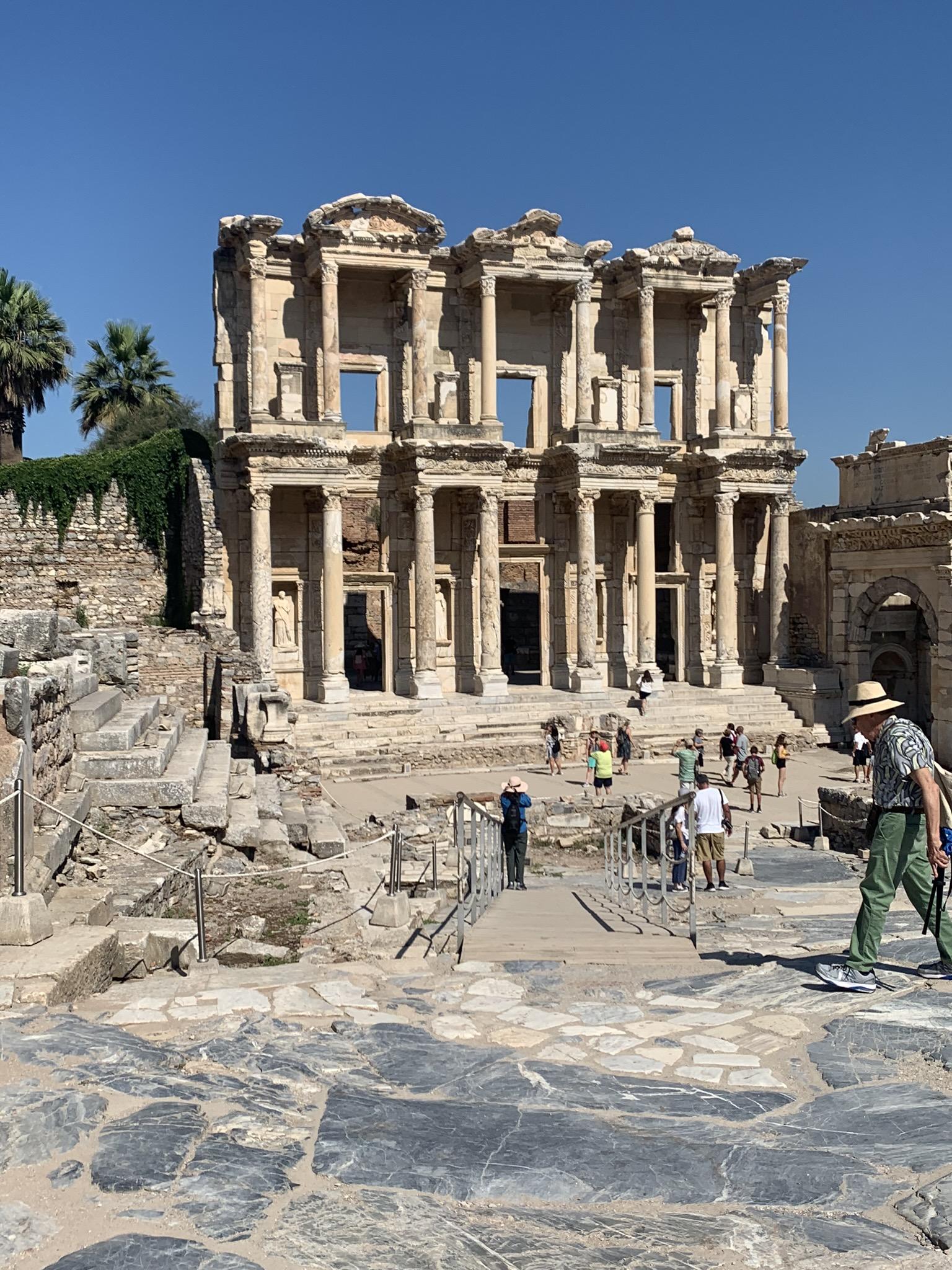 the celsus library in ephesus turkey