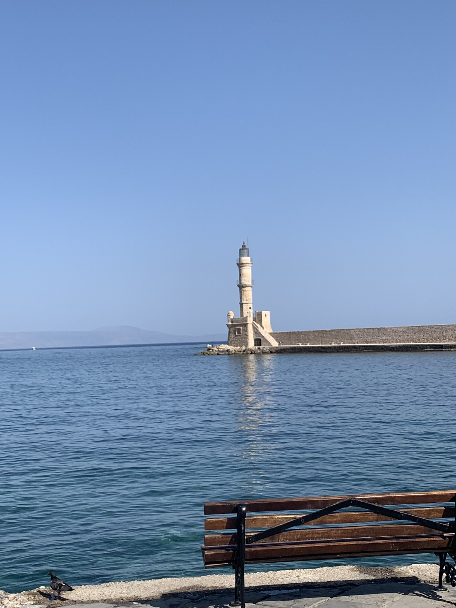 lighthouse in chania greece