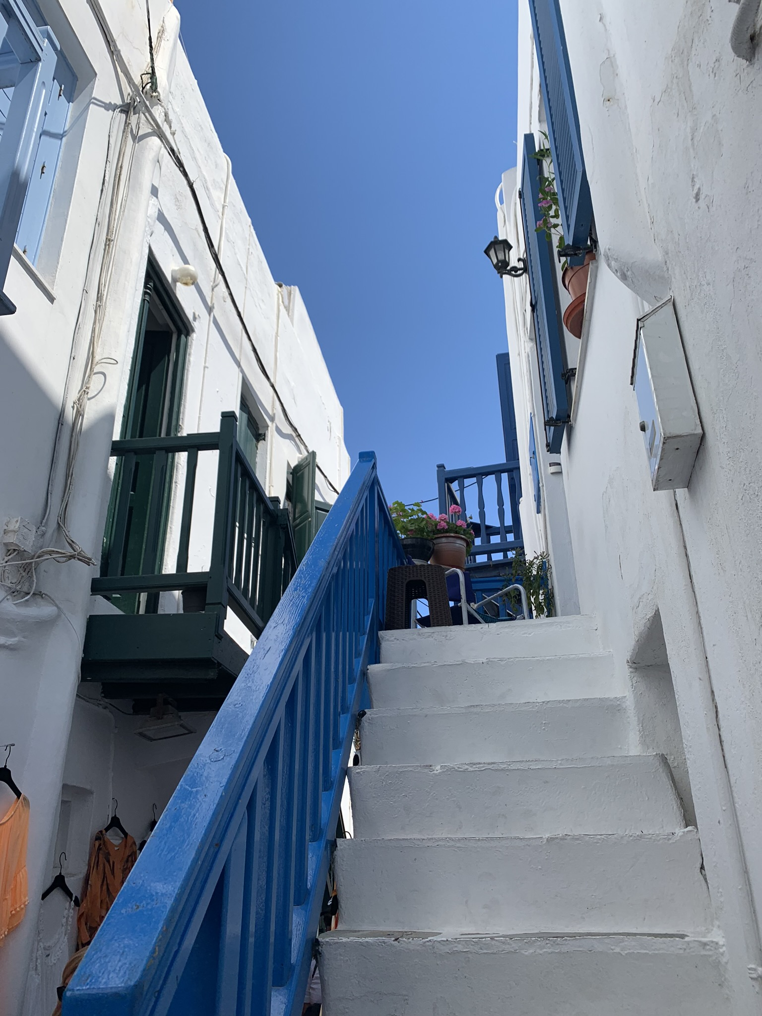 a side street in mykonos greece