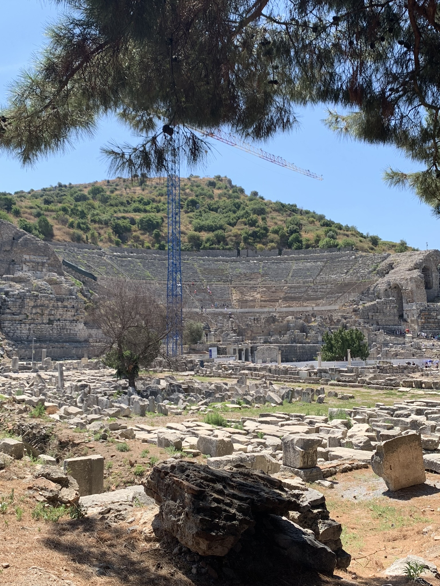the grand theater in ephesus turkey