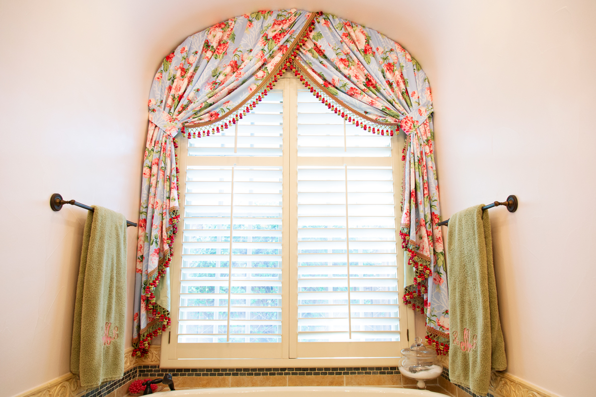 bathroom window treatment in master suite empty nester redo