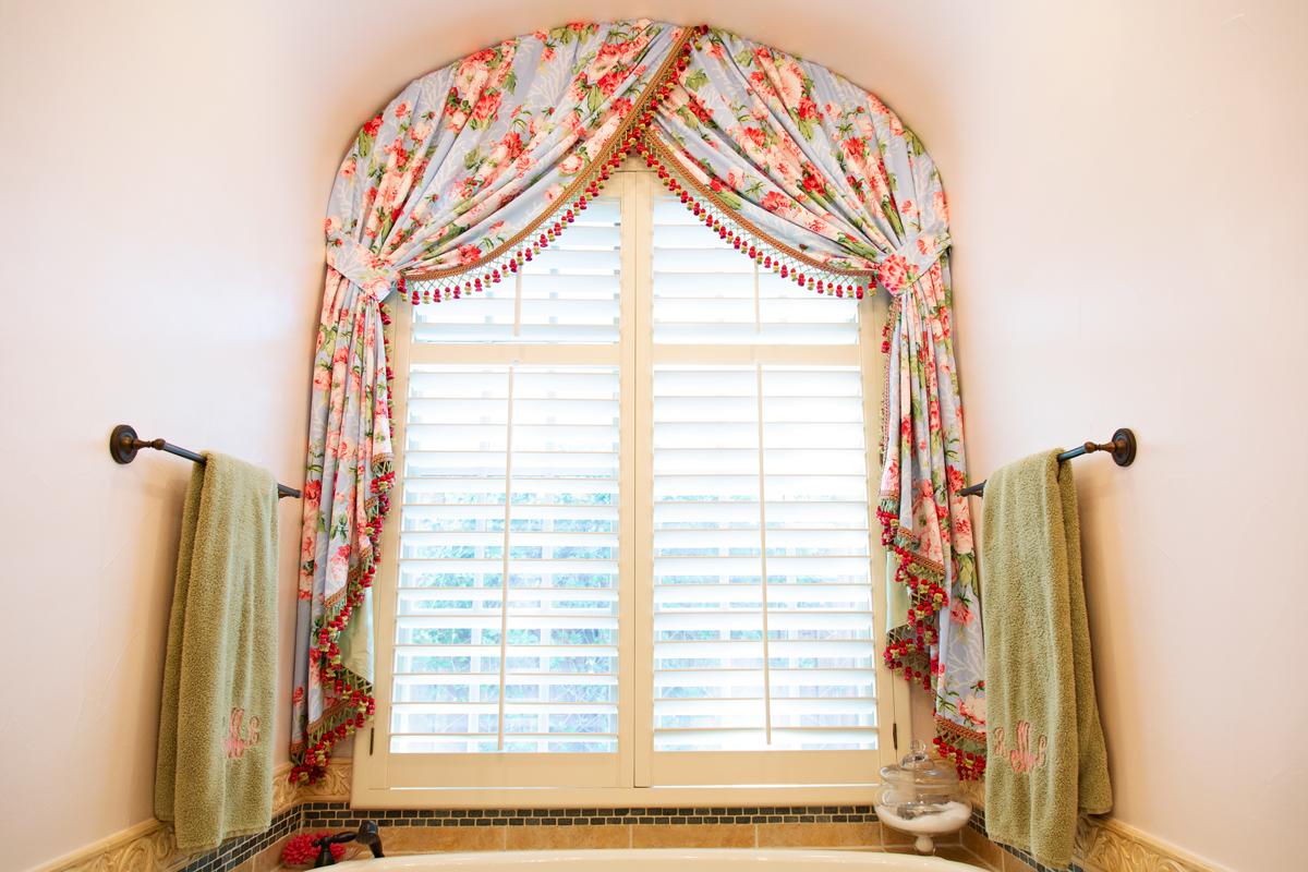bathroom window treatment in master suite empty nester redo
