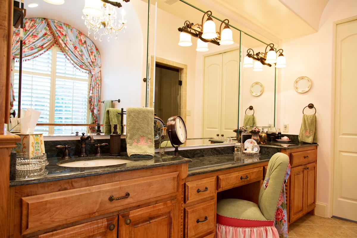 bathroom counter sink area in master suite empty nester redo