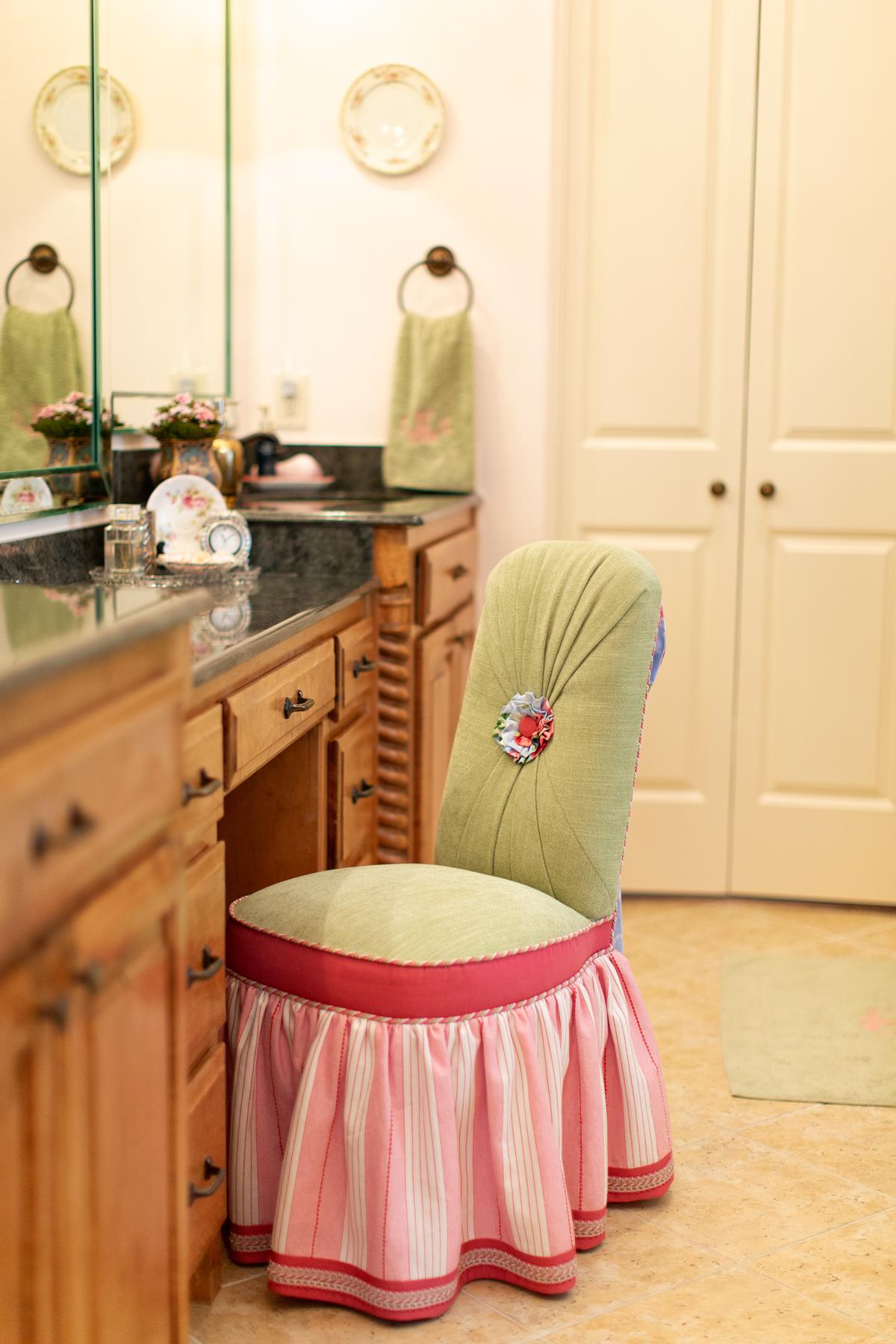bathroom vanity area in master suite empty nester redo