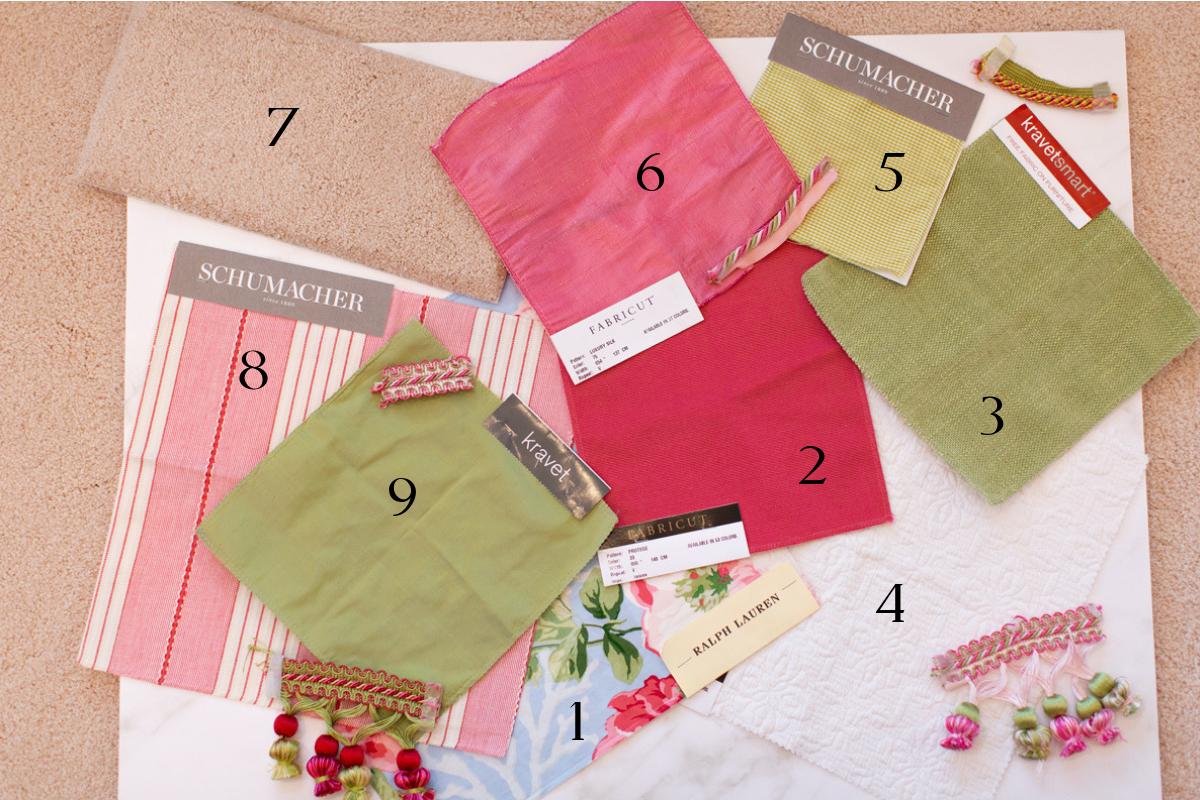 fabrics used in master suite empty nester redo