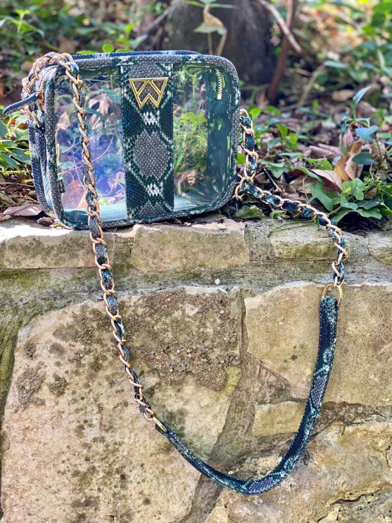 Kelly Wynne mini mingle green snakeskin