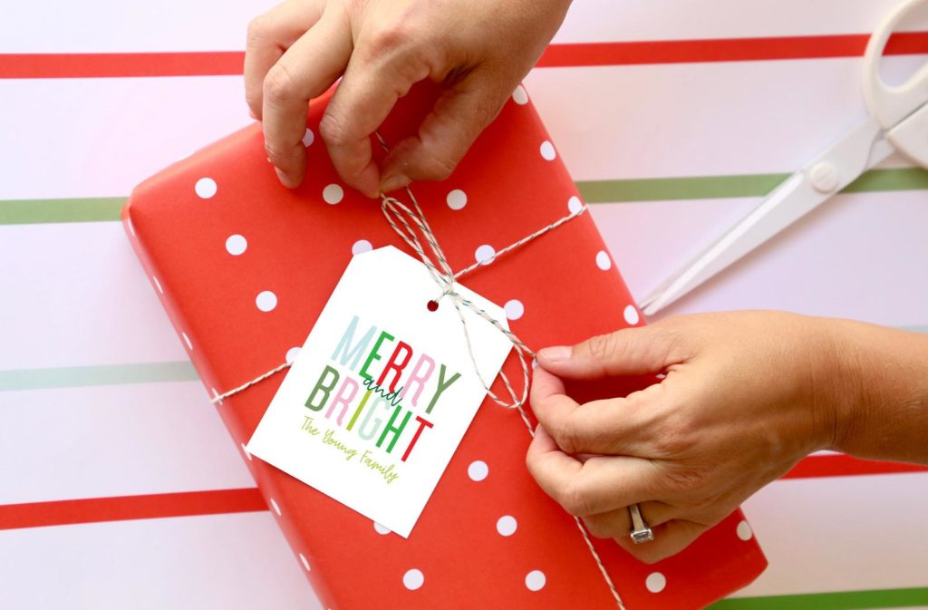 colorful merry and bright gift cards from joy creative shop