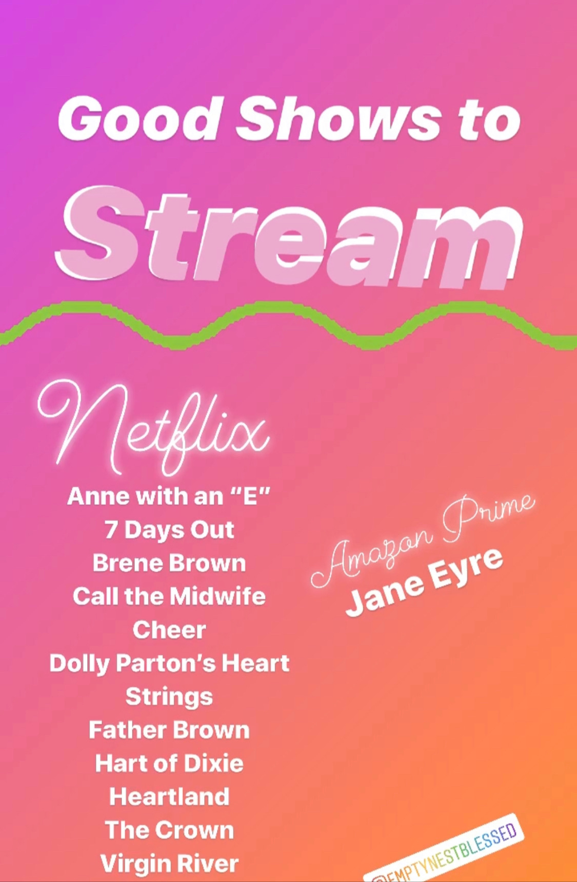 list of wholesome shows to stream on netflix