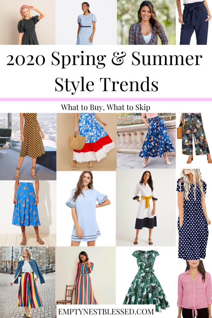 spring summer trend collage