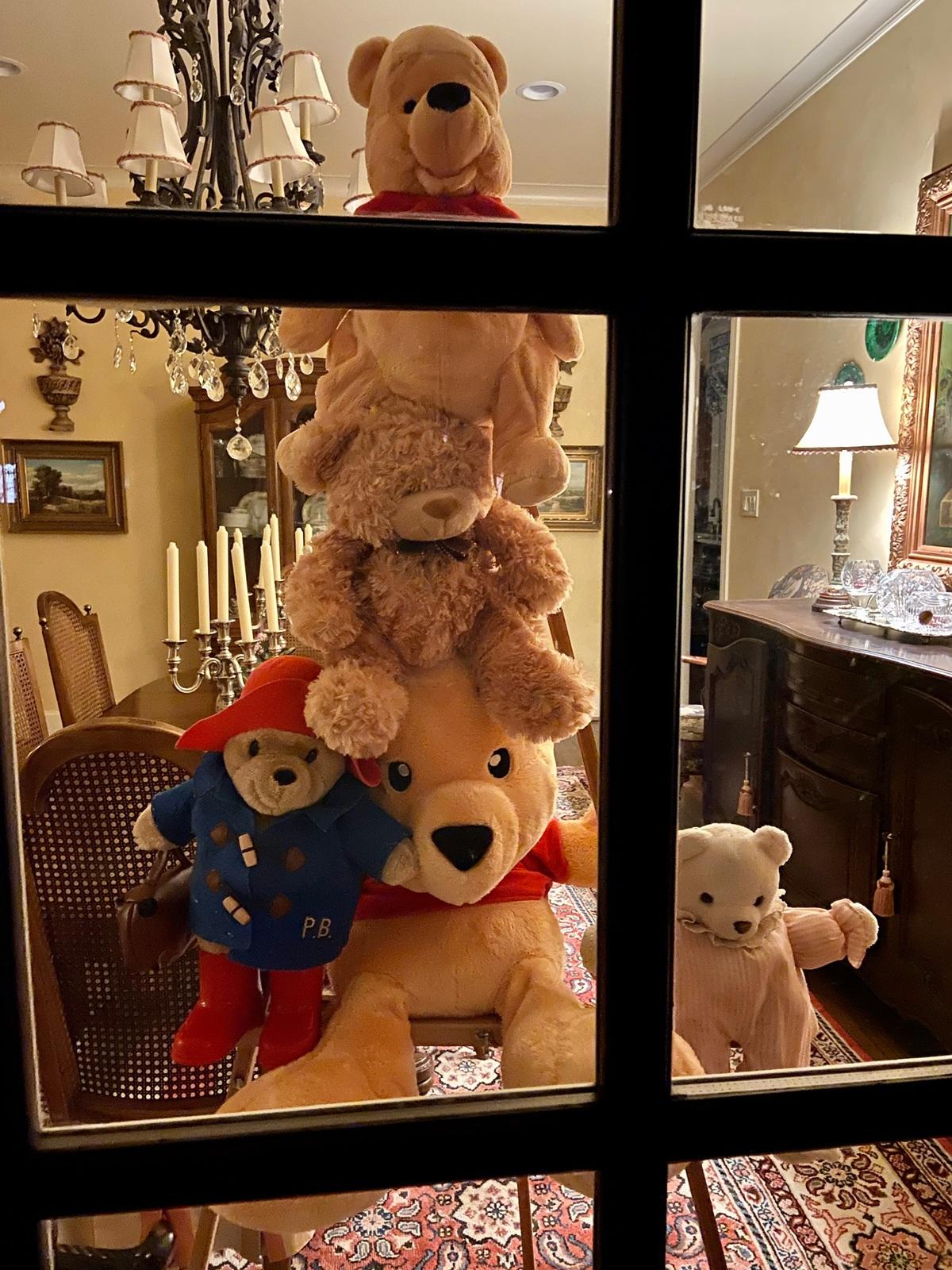 teddy bears in windows scavenger hunt