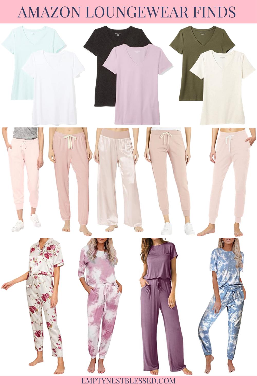 collage of amazon loungewear