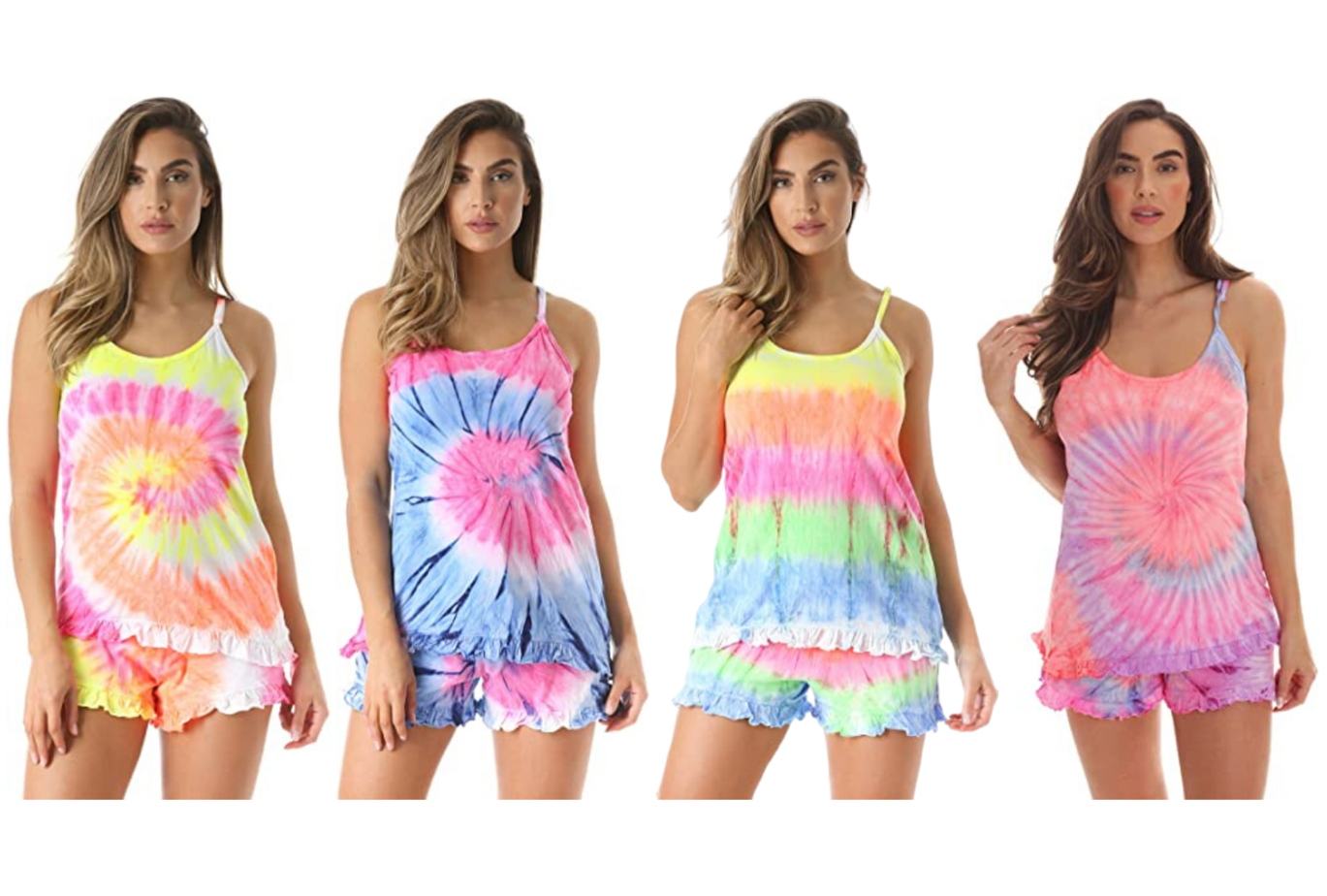 amazon loungewear tie die set
