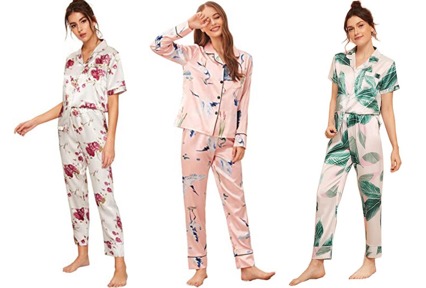 long sleeve long pants print pajama set amazon