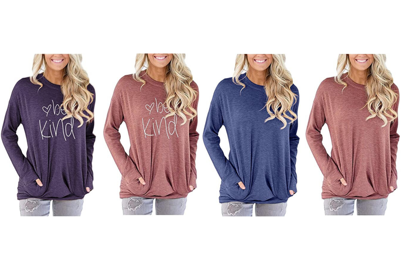 be kind amazon long sleeve tops