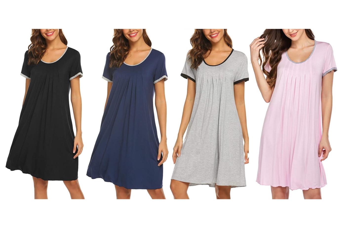 amazon loungewear nightgowns