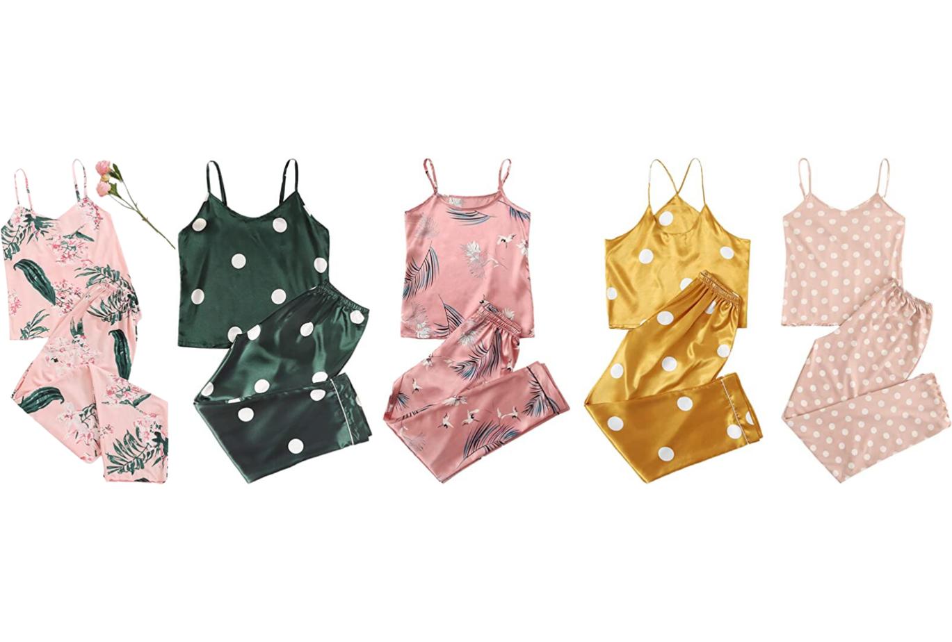 amazon print silky pajamas