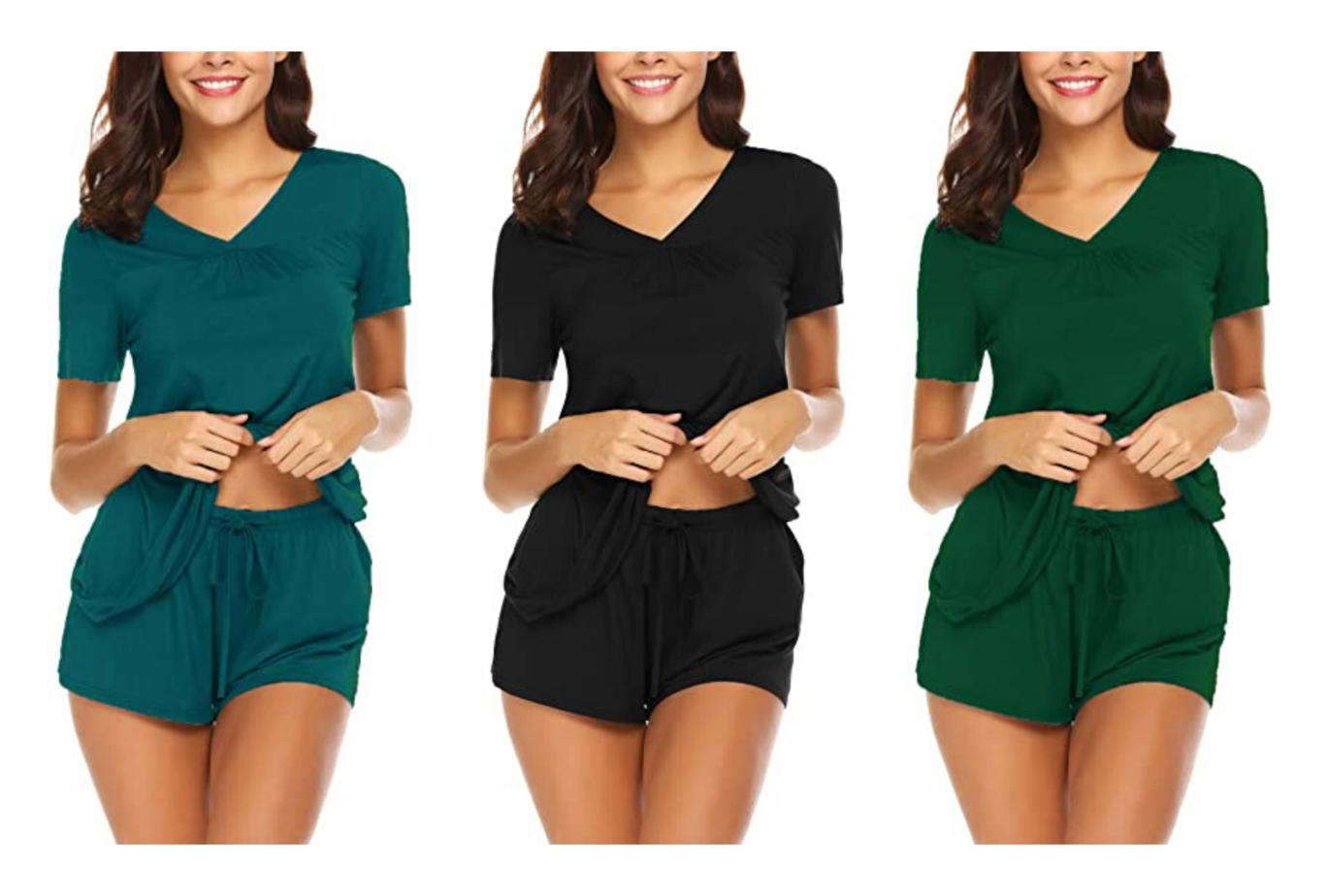 amazon loungewear shorts set