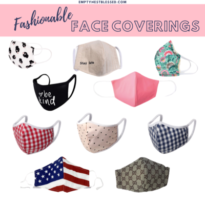 collage of face coverings