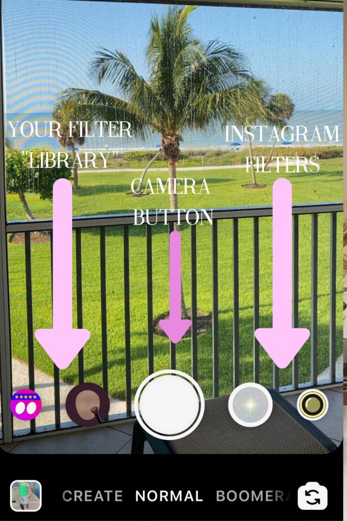 Screenshot of Instastory camera