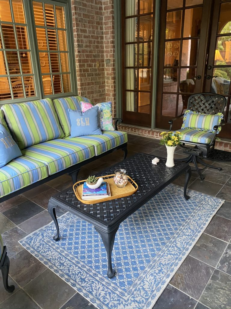sofa on back patio