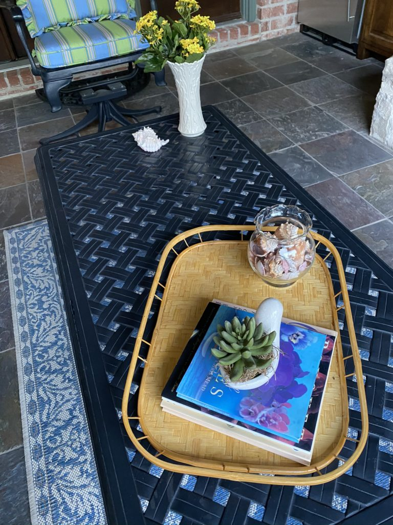 back patio coffee table before update