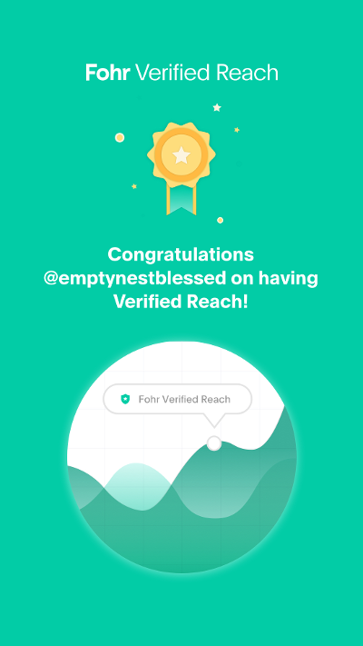fohr verified reach badge for @emptynestblessed