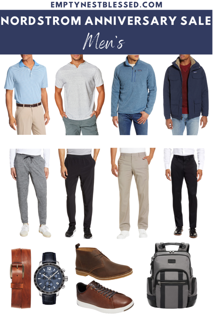 rectangle collage of men's fashion in the nordstrom anniversary sale