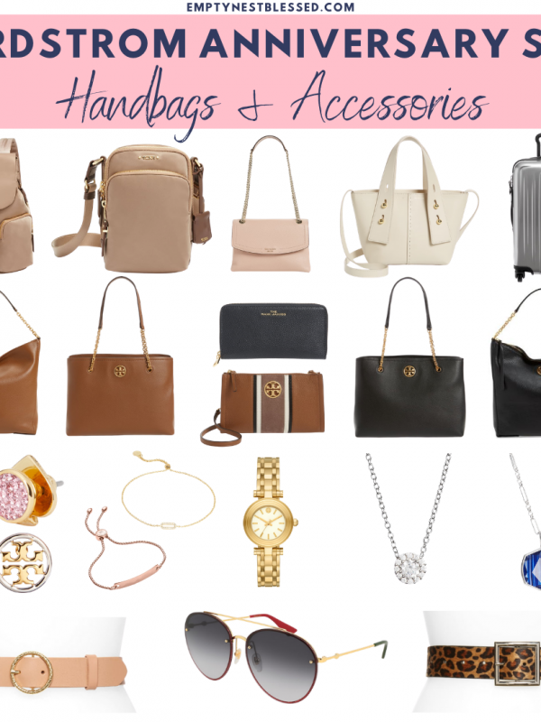 collage of favorite handbags and accessories from the nordstrom anniversary sale