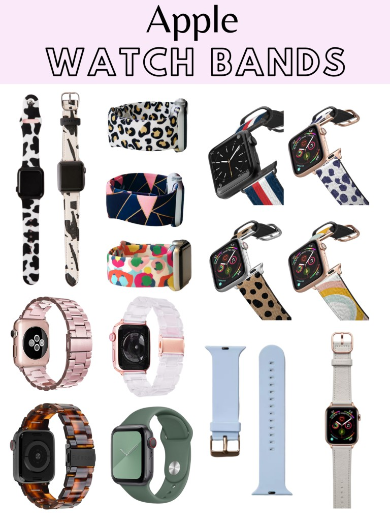 collage of apple watch bands