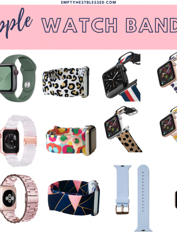 square collage of apple watch bands