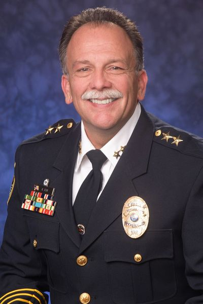 headshot of rick pyle, former police chief for the town of Highland Park, texas