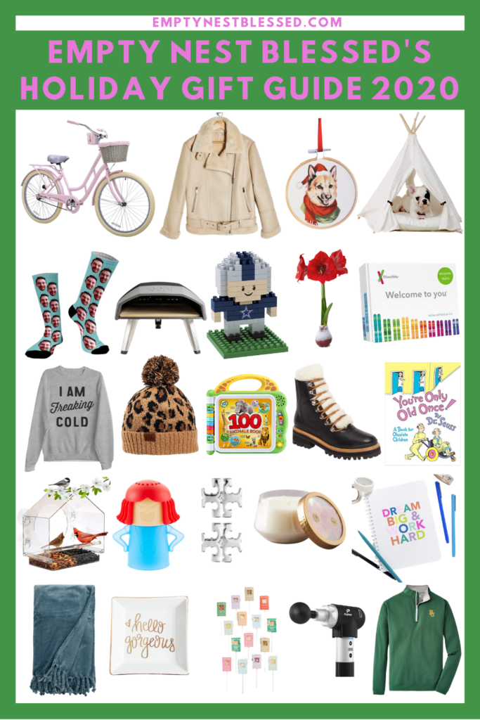 empty nest blessed holiday gift guide collage pin
